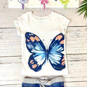 Carter's T-Shirt Girls Butterfly Size 8